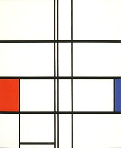 Composition in White, Red and Blue, 1936