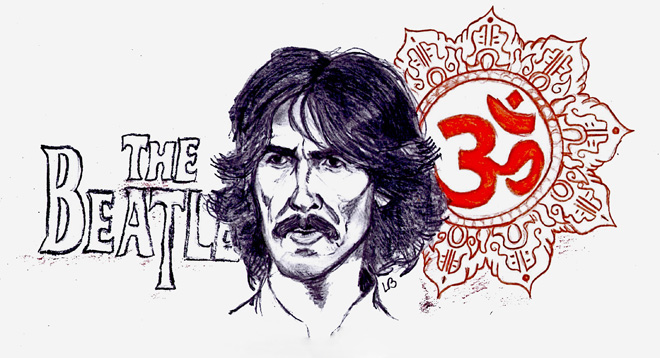 George Harrison drawing by Lasse Blond (c)