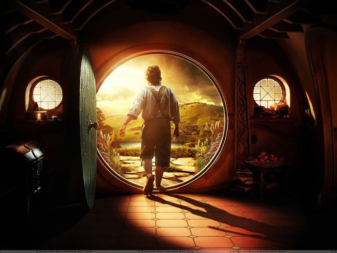 The Hobbit - An Unexpected Journey - Martin Freeman Going Outside