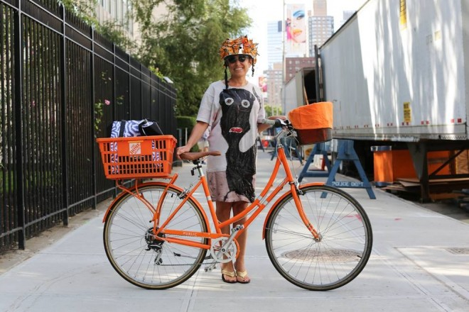 """My students were worried about me riding without a helmet, and they knew I loved orange. So they made me this."" © Humans of New York"
